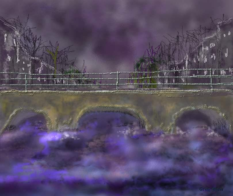 River Digital Art - River Though The City by Gregory Steward