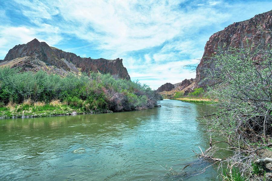 River Through Canyon Desert Photograph