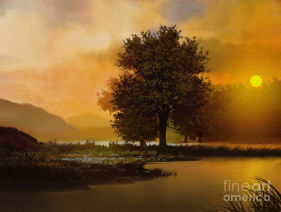 Landscape Painting - River Tree by Robert Foster