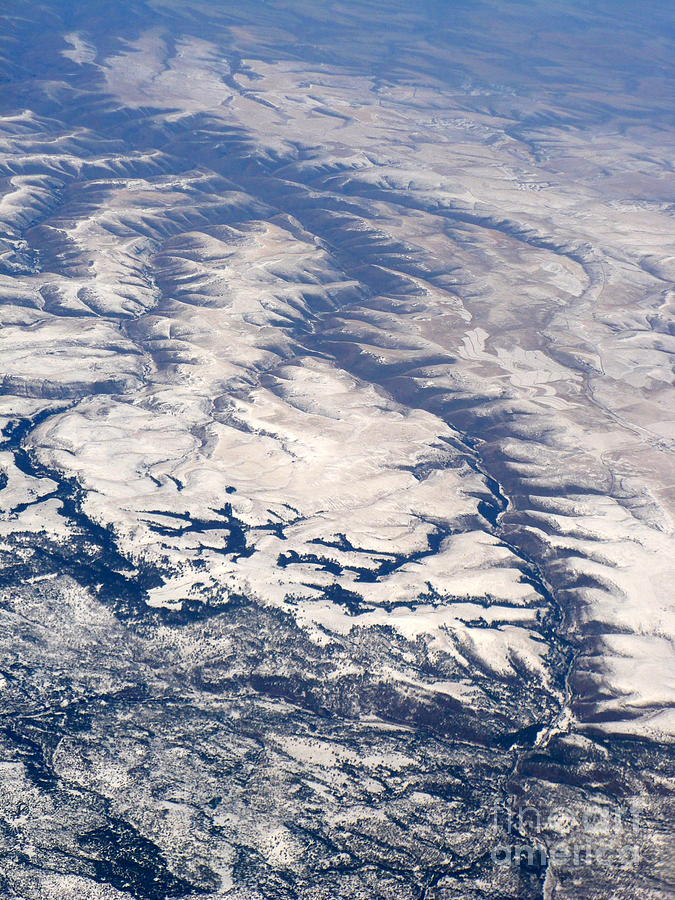 Aerial Photograph - River Valley Aerial by Carol Groenen