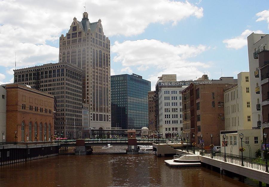 Milwaukee Photograph - River View by Anita Burgermeister
