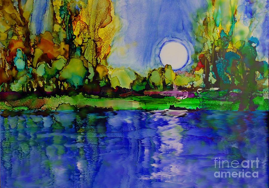 Landscape Painting - River Walk by Priti Lathia