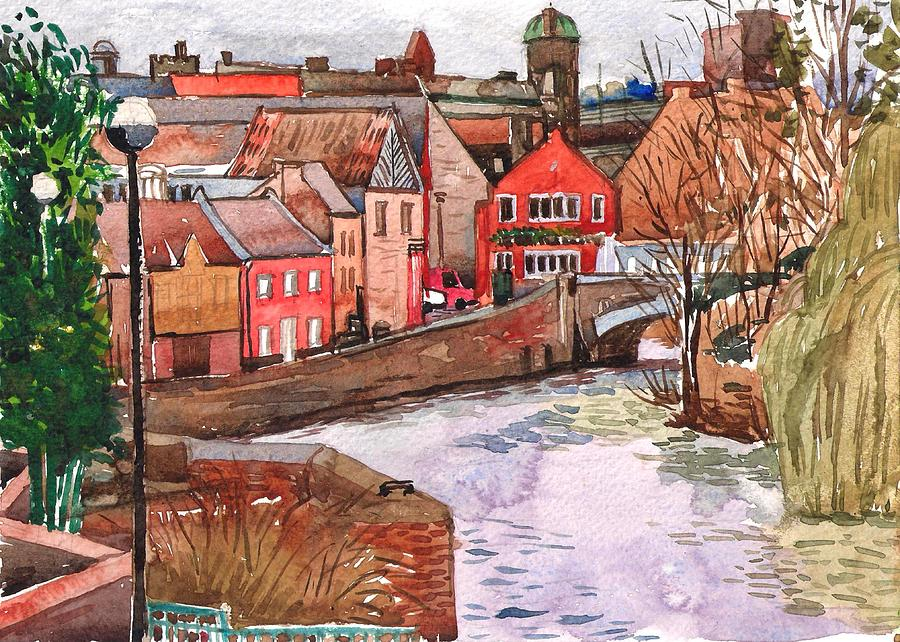 Landscape Painting Painting - River Wensum Norwich by Hopebaby Pradit