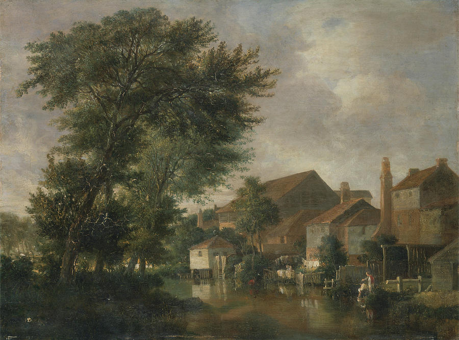 John Crome Painting - River Wensum, Norwich by MotionAge Designs