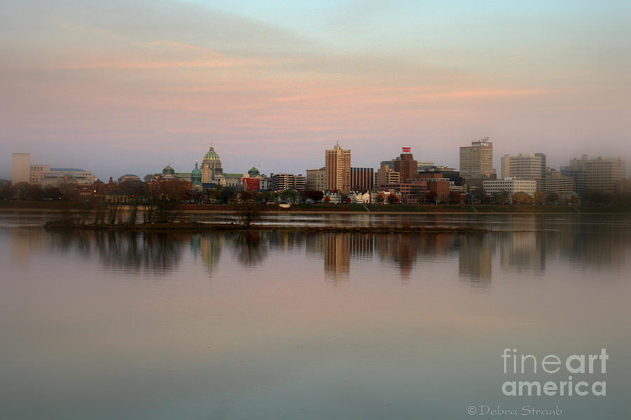 Riverfront Photograph - Riverfront At Dusk by Debra Straub