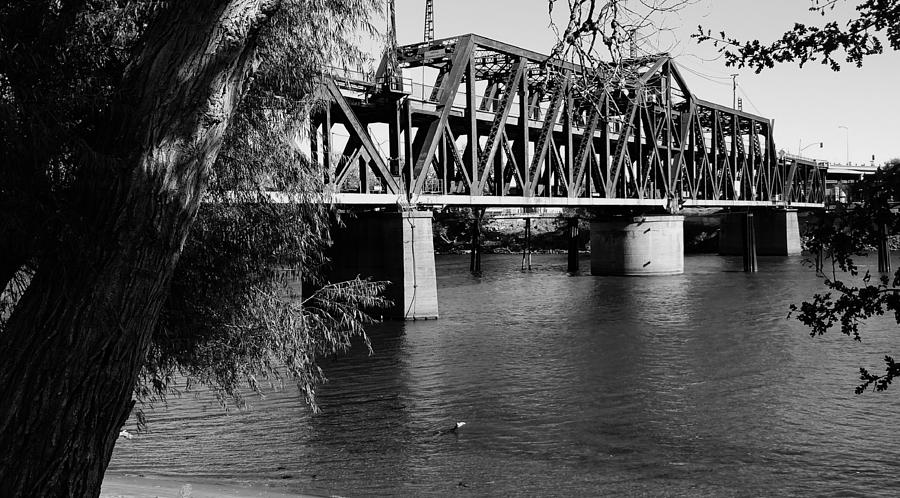 Sacramento Photograph - Riverfront Bridge by Peggy Leyva Conley