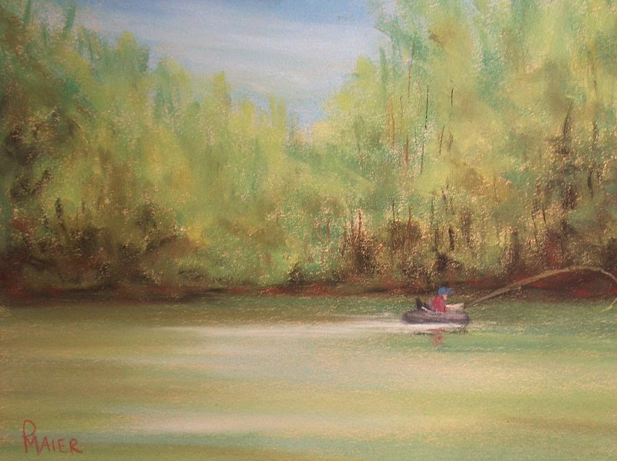 Fishing Painting - Rivergreen by Pete Maier
