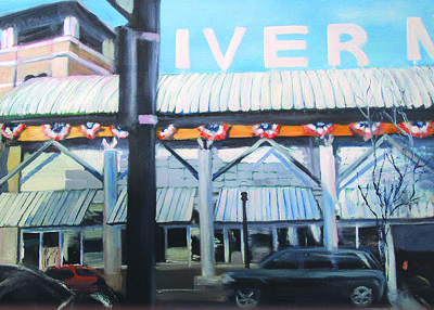 Cityscape Painting - Rivermarket by Marty Smith