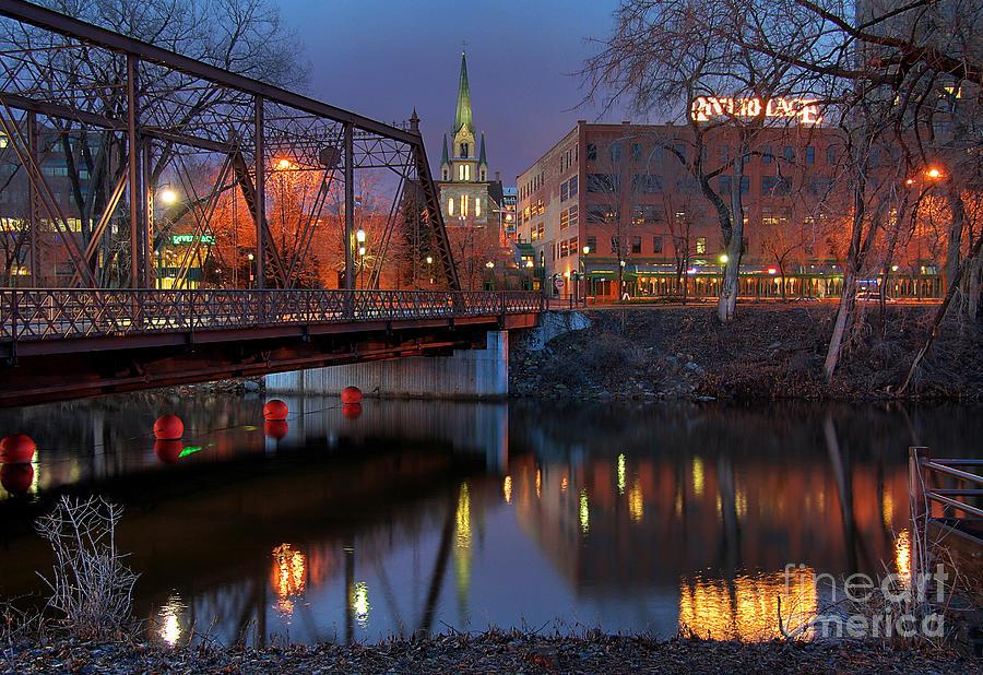 Minneapolis Photograph - Riverplace Minneapolis Little Europe by Wayne Moran