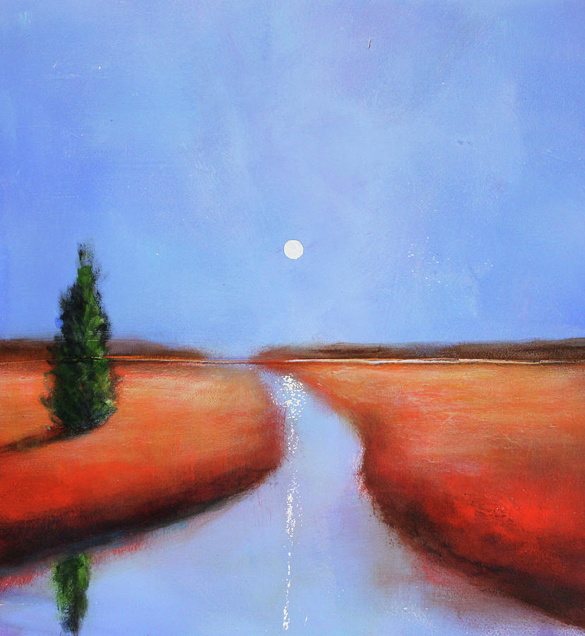 Modern Painting - Rivers End by Toni Grote