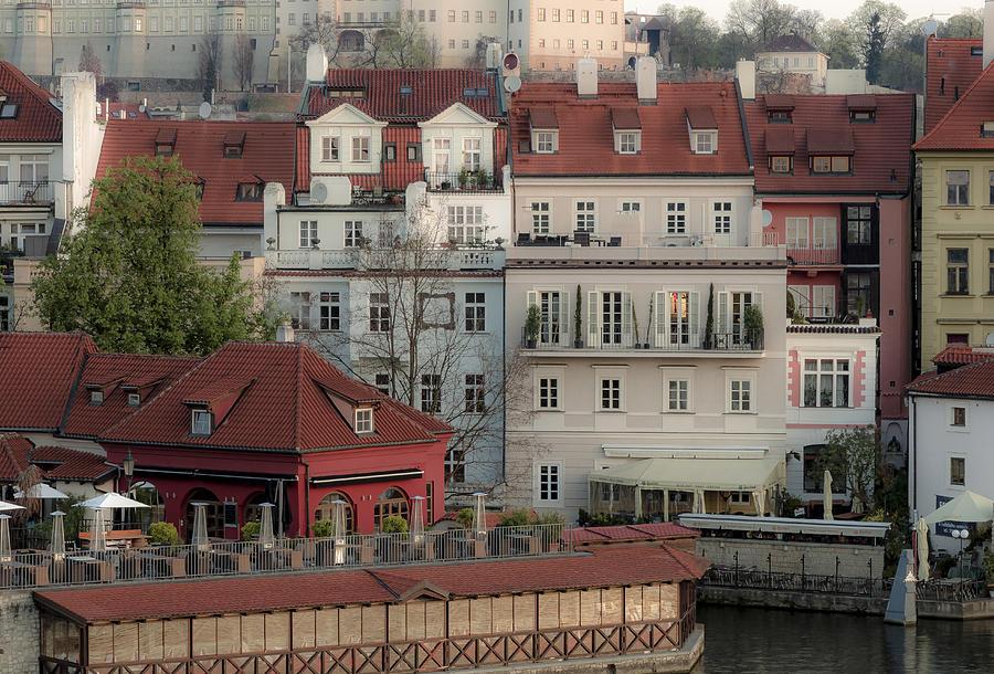 Prague Photograph - Riverside Below Prague Castle by Marek Boguszak