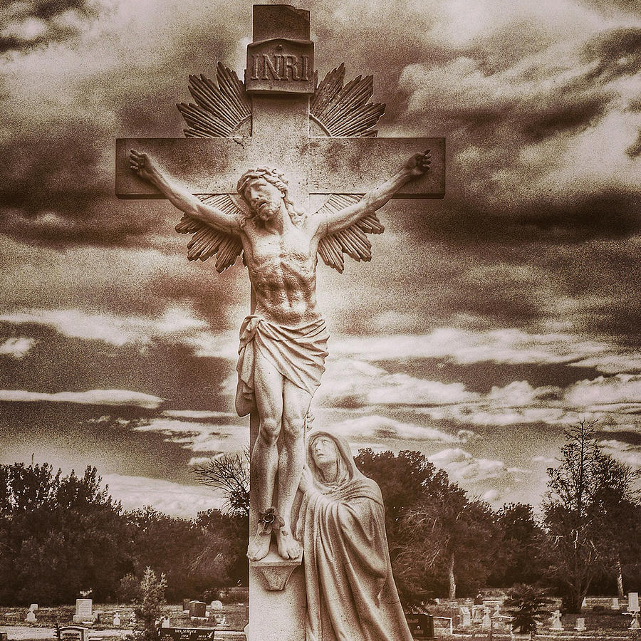 Riverside Cemetery Sepia by Gia Marie Houck