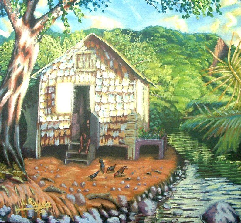 Shingles Painting - Riverside by Lowell Royer