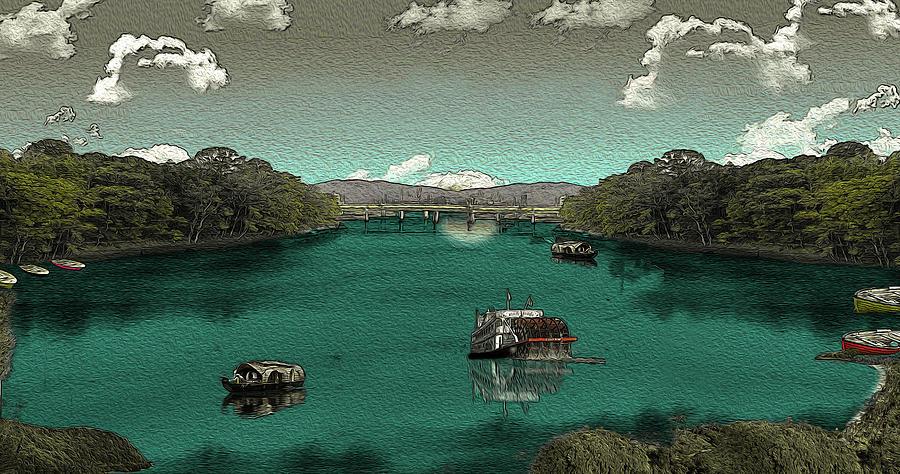 Tamsui Digital Art - Riverside by Manjot Singh Sachdeva