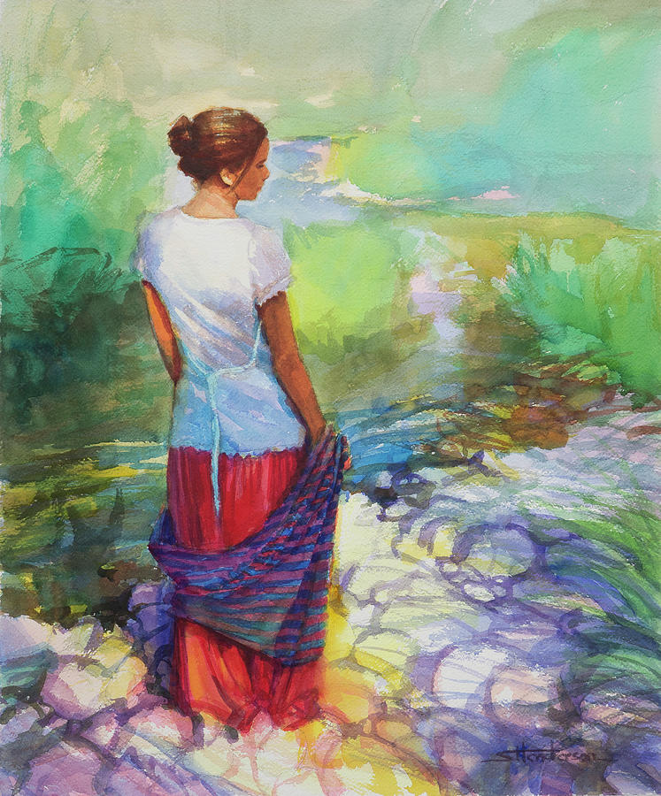 Country Painting - Riverside Muse by Steve Henderson