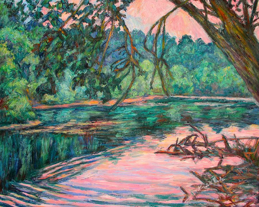 Riverview Park Painting - Riverview at Dusk by Kendall Kessler