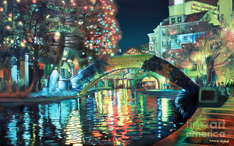 Landscape Painting - Riverwalk by Baron Dixon