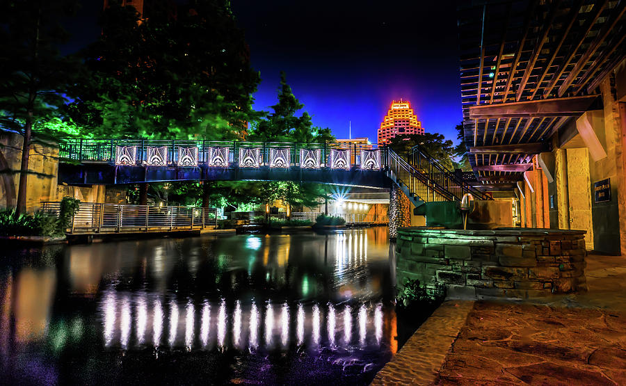 Landscape Photograph - Riverwalk Bridge by Mark Dunton