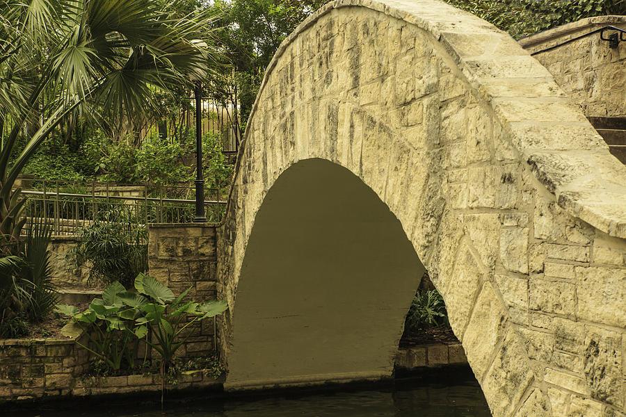 Footbridge Photograph - Riverwalk Footbridge by Anne Witmer