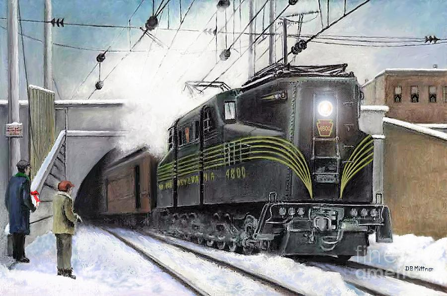 Pennsylvania Railroad Painting - Rivets by David Mittner