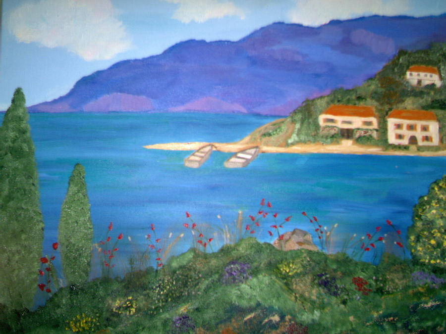 Riviera Painting - Riviera Remembered by Alanna Hug-McAnnally