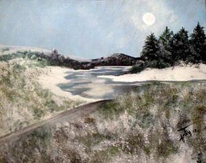 Landscape Painting - Riviere Aux Foins Lhiver by Lise-marielle Fortin