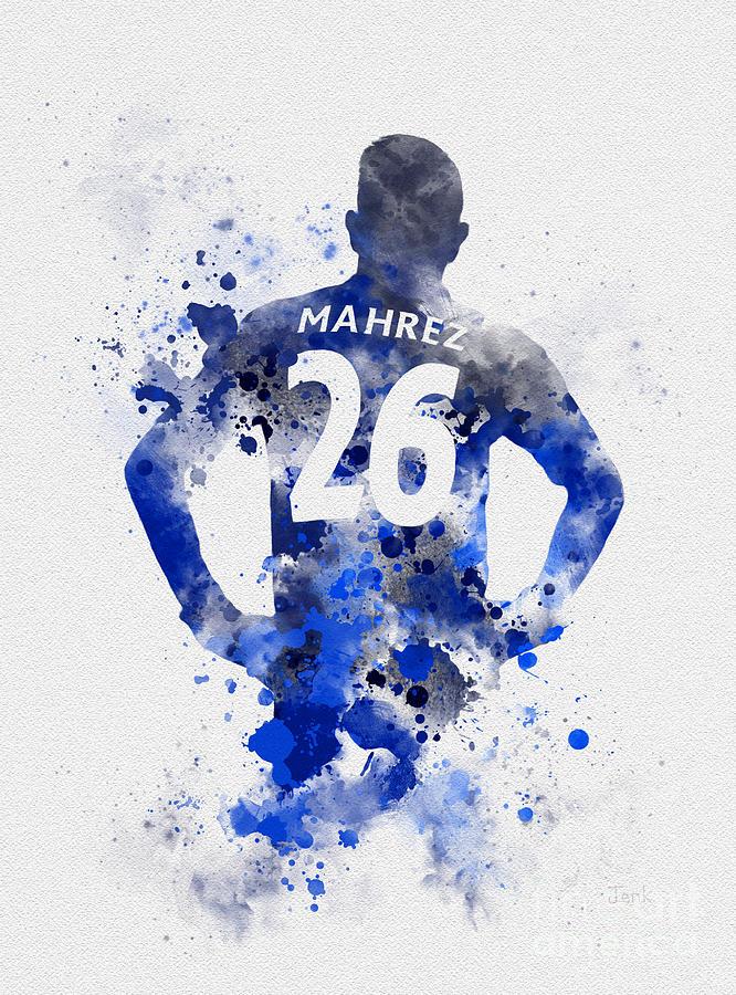 Riyad Mahrez Mixed Media - Riyad Mahrez by My Inspiration