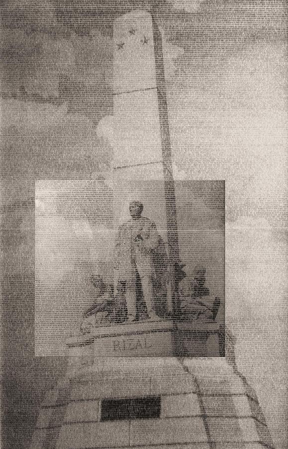Jose Rizal Drawing - Rizal-full And Detail 1966-67 by Glenn Bautista