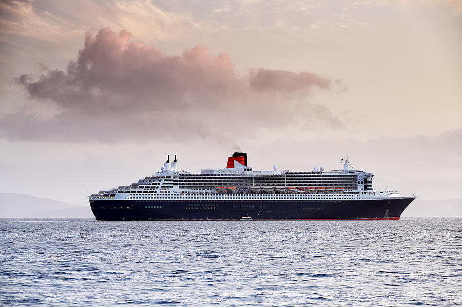 Ocean Liner Photograph - RMS Queen Mary 2 by Grant Glendinning