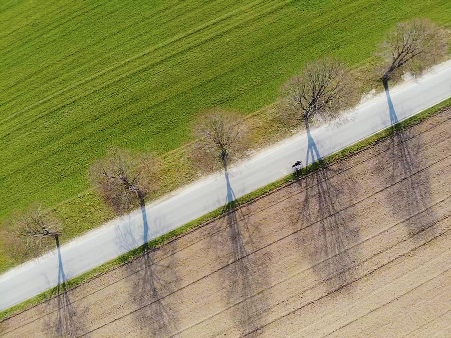 Road Photograph - Road and landscape from above by Matthias Hauser