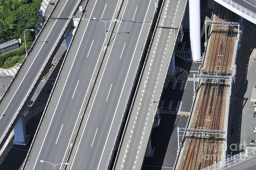 Road And Rail Photograph - Road And Rail Intersection by Andy Smy