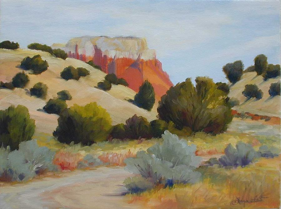 Landscape Painting - Road At Ghost Ranch by R Raya