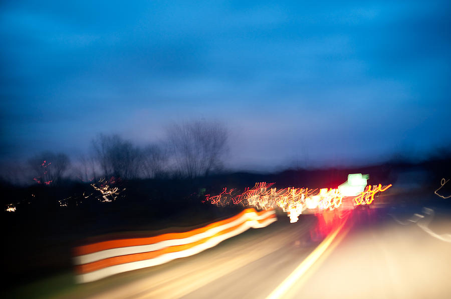 Road Photograph - Road At Night 3 by Steven Dunn