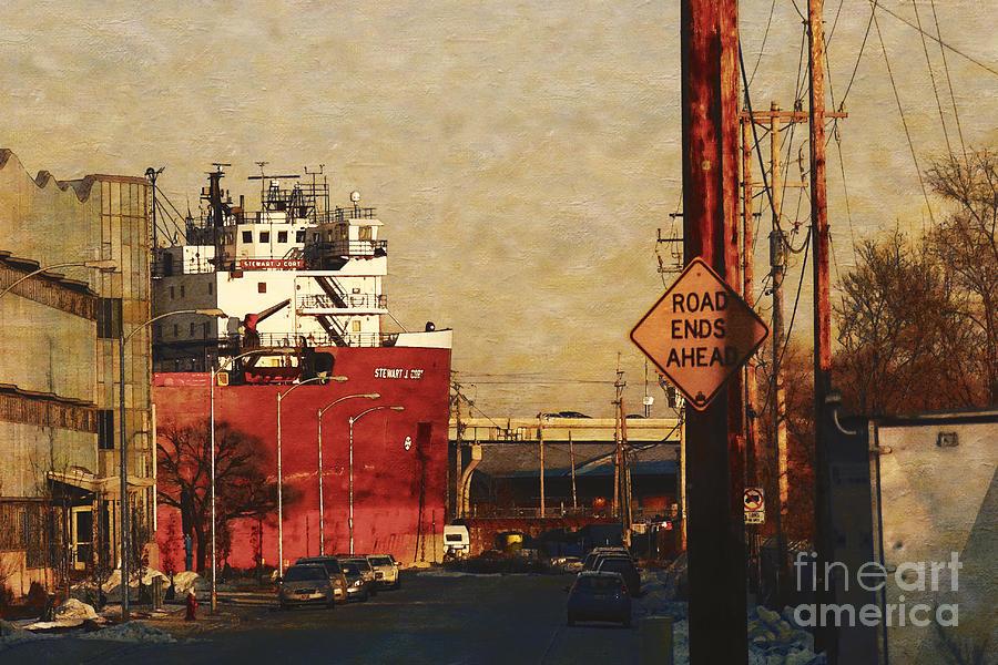 Milwaukee Digital Art - Road Ends Ahead by David Blank