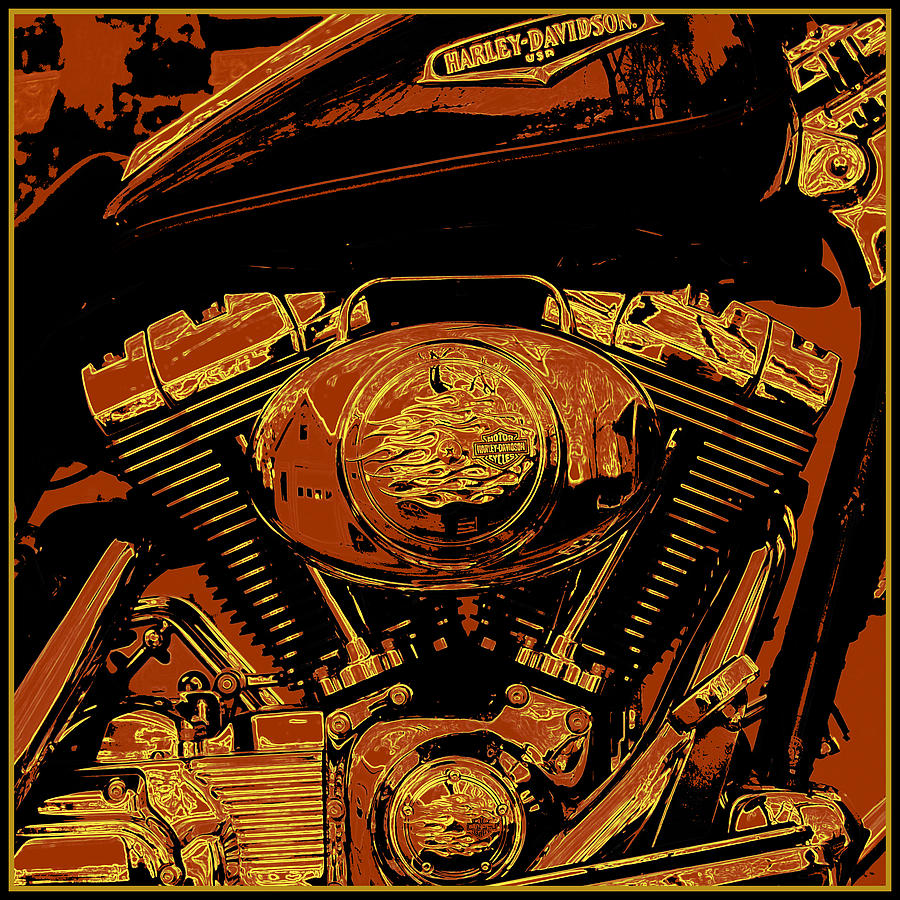 Modern Art Painting - Road King by Gary Grayson