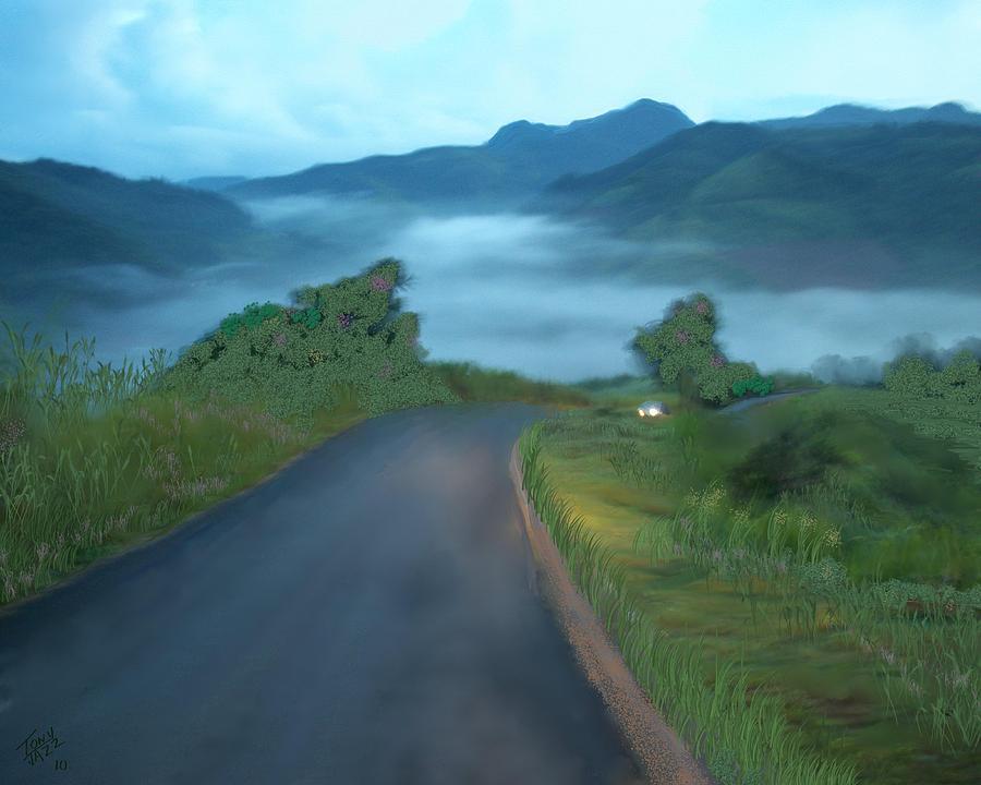 Landscape Digital Art - Road Less Traveled by Tony Rodriguez