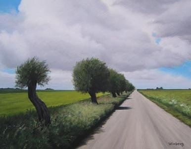 Summer Painting - Road by Peter Winberg