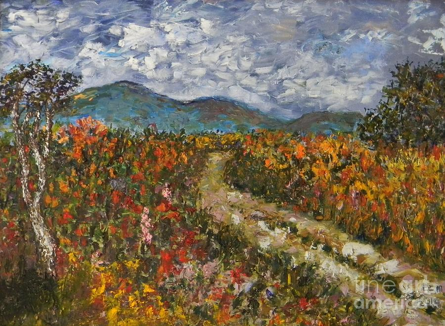 Impasto Painting - Road Through Colored Meadows by Emily Michaud