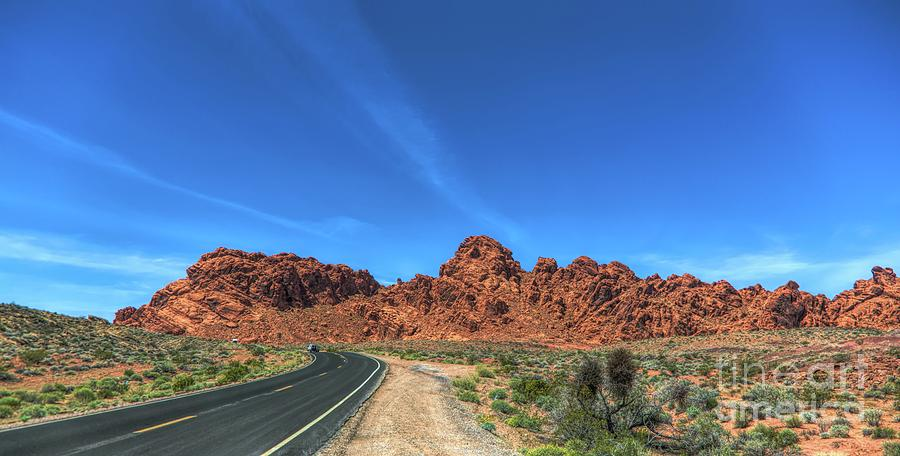 Valley Of Fire Photograph - Road Through Valley Of Fire  by Chuck Kuhn