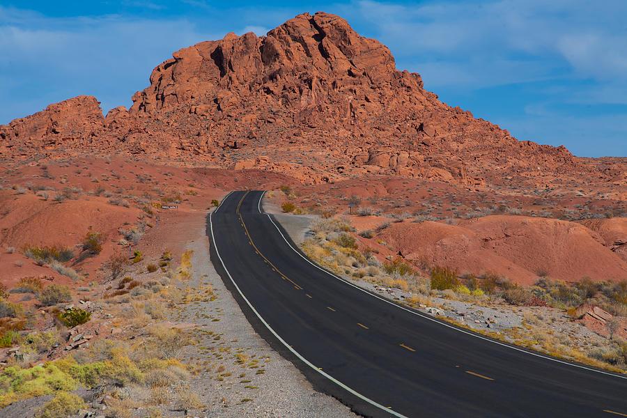 Road through Valley of Fire, NV by Gunter Nezhoda