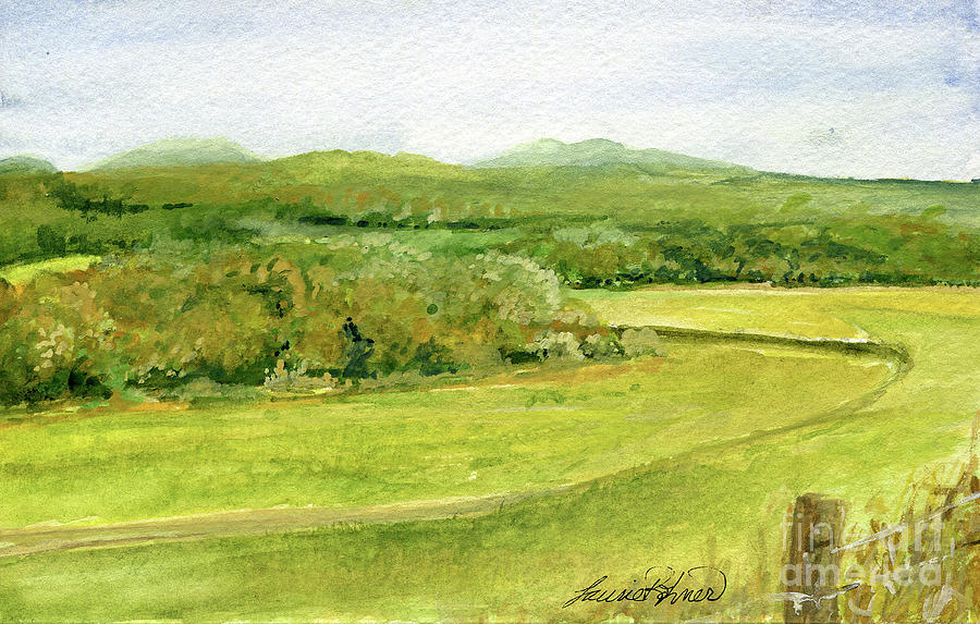 Road Through Vermont Field by Laurie Rohner