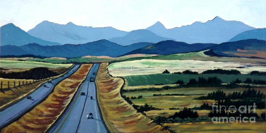 Road to Banff by Diane Ellingham