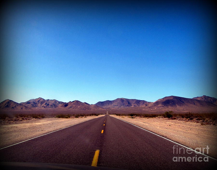 Death Valley Photograph - Road to Death Valley   by Joy Patzner