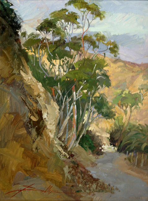 Plein Air Painting Painting - Road To Descanso Catalina by Betty Jean Billups