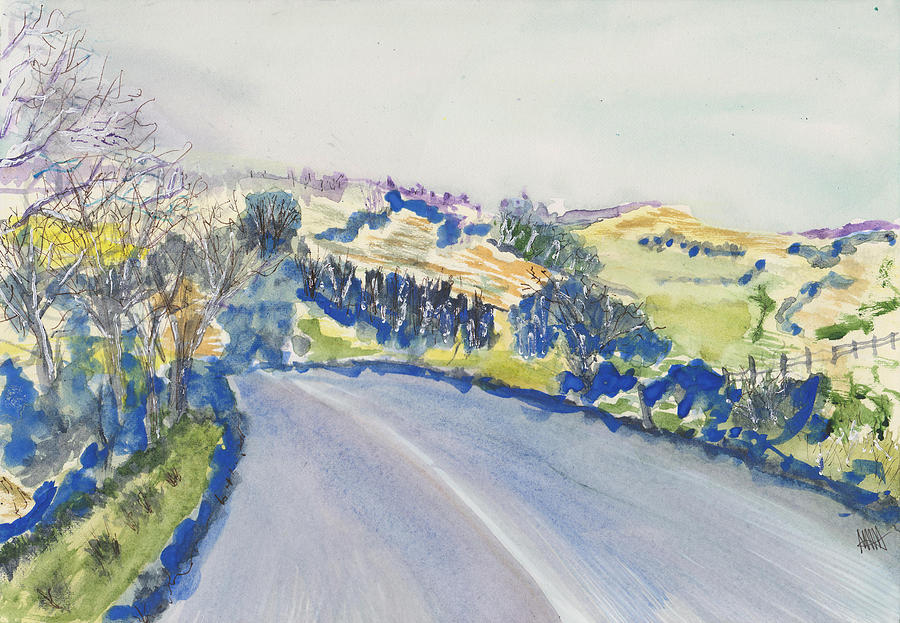 Landscape Painting - Road to Dolgellau by Maura Satchell