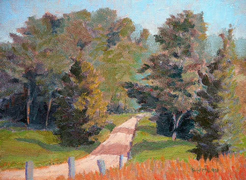 Landscape Painting - Road To Farm Neck by Thaw Malin III