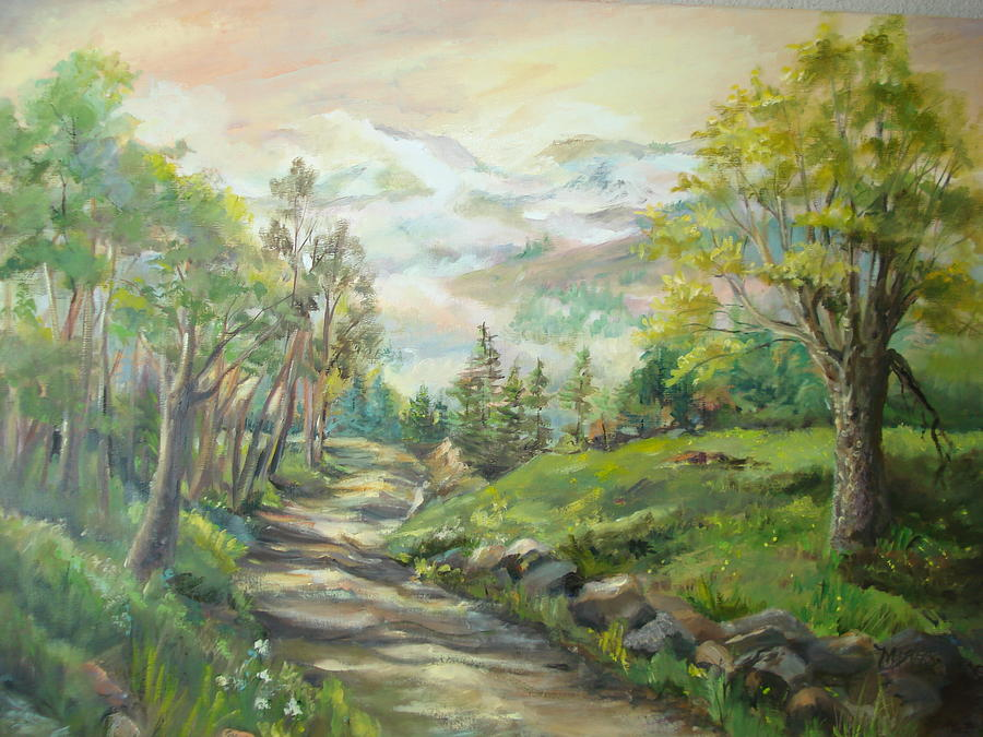 Road To Grandfather Mountain Painting by Marilyn Masters