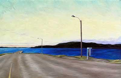 Landscape Painting - Road To Long Island Newfoundland by Lisa Graziotto