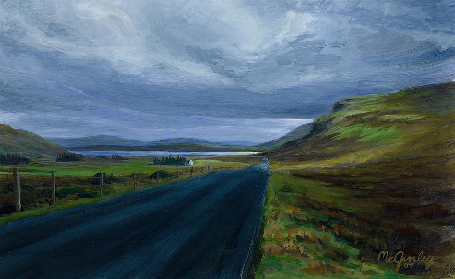 Road To Lough Barra Donegal by Laurie McGinley