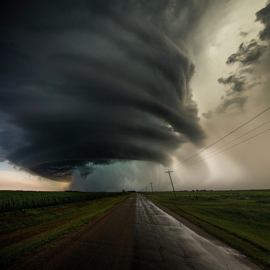 Landscape Photograph - Road To Mesocyclone by Aaron J Groen